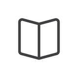 Book open line simple icon, outline vector sign Royalty Free Stock Images