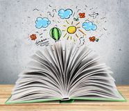 Book. Open Page Cook Guide Reading Royalty Free Stock Image