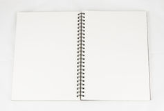Book open white  background Stock Image