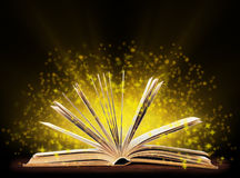 Book. Opened book with special light. stock photography