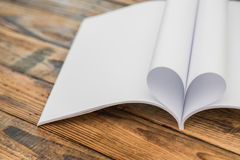 Book with opened pages of shape Stock Photo