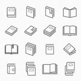 Book outline stroke symbol royalty free stock image