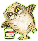 Book Owl Royalty Free Stock Photography