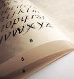 Book page with alphabet Stock Photo