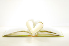Book page in heart shape Royalty Free Stock Photo
