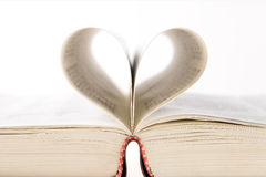 Book page like a heart Royalty Free Stock Images