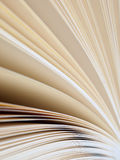 Book pages. Close up of blank book pages Stock Photo