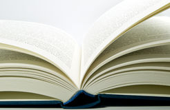 Book pages. Open book, detail shot of pages Stock Images