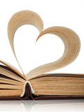 Book pages. Heart of the book's pages Royalty Free Stock Image