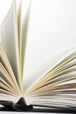 Book pages. On white background close-up royalty free stock image