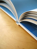 Book Pages. An open book. Focus is at the right hand pages of the book royalty free stock image