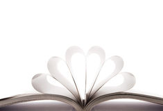 Book. Pages bent on white background Stock Photo