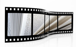 Book pages Film Strip stock photo