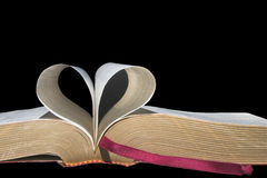 Book Pages in Heart Shape Royalty Free Stock Images