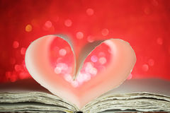 Book pages in a heart Royalty Free Stock Images