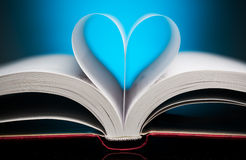 Book pages in heart shape Royalty Free Stock Photos