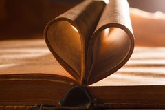 Book pages like a heart. Stock Images