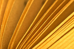 Book pages macro Stock Images