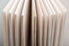 Book pages. Open book pages in white background, close-up Royalty Free Stock Photography