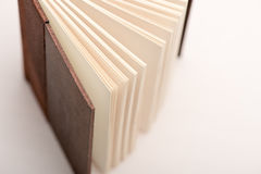 Book pages. Open book pages in white background, close-up Stock Image