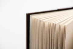 Book pages. Open book pages in white background, close-up Royalty Free Stock Photos