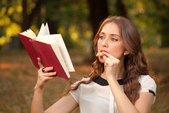 Book in park Royalty Free Stock Images