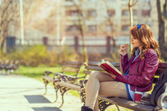 Book in the park Royalty Free Stock Photography
