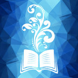 Book with pattern Royalty Free Stock Images