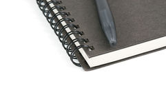 Book and pen. On white  background Royalty Free Stock Photography