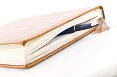 Book and pen Royalty Free Stock Image