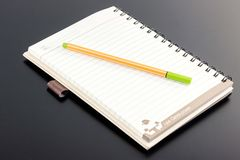 Book and pen. Royalty Free Stock Images