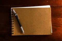 Book with pen Royalty Free Stock Image
