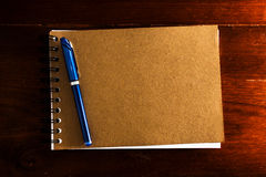 Book with pen Royalty Free Stock Photography