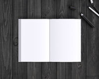 Book and pen Stock Image