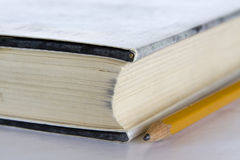 Book and Pencil Stock Image