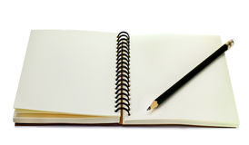 Book with pencil Royalty Free Stock Photos
