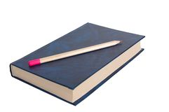 Book and pencil. Stock Photography