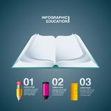 Book pencil marker rule icon. Infographic education design. Vect Royalty Free Stock Image
