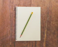 Book and pencil Royalty Free Stock Photos