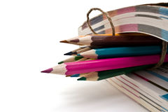 Book and pencils Stock Images