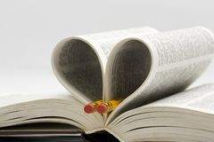 Book with pencils. On white background Stock Photography