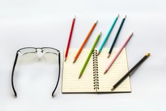Book Pencils Glasses royalty free stock image