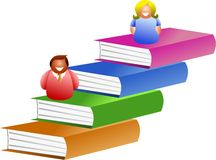 Book people stock illustration