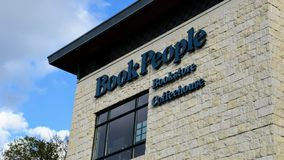 Book People Logo on the side of a building. November 17th 2018, BookPeople Logo logo on the side of a building stock photo