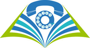 Book phone logo Royalty Free Stock Photos