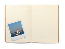 Book and photo frame royalty free stock images