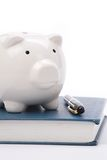 Book and Piggy Bank stock photography