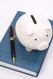 Book and Piggy Bank Royalty Free Stock Photography