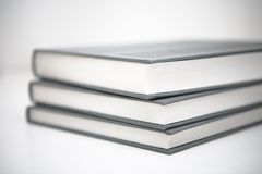 Book Pile. Books piled in abstract environment Stock Images