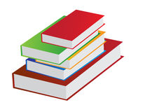 Book pile. Illustration of book pile in white background Royalty Free Stock Photography